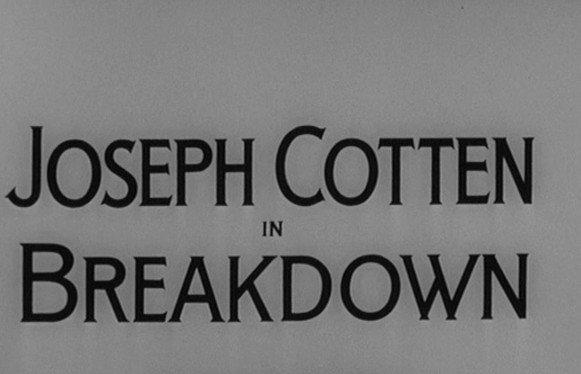 Alfred Hitchcock Presents: Breakdown