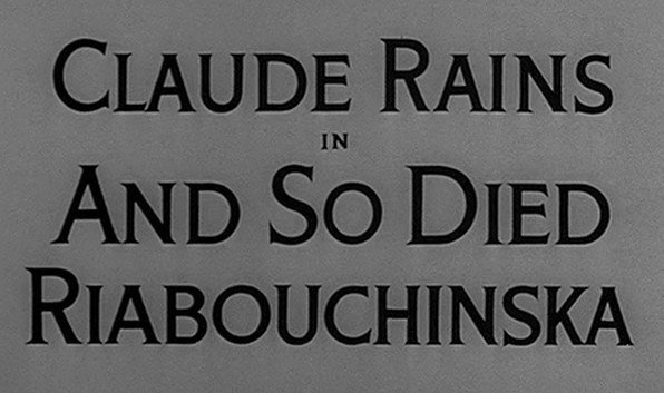 Alfred Hitchcock Presents: And So Died Riabouchinska
