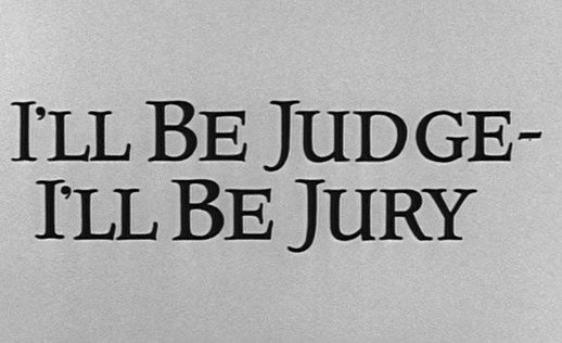 The Alfred Hitchcock Hour: I'll Be Judge – I'll Be Jury