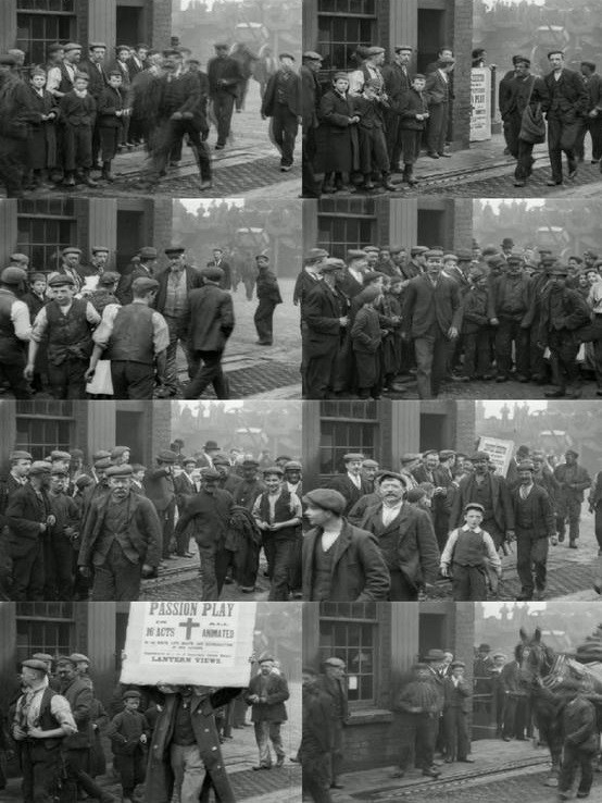 Miners Leaving Pendlebury Colliery